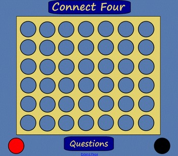 Connect Four Template for SMART Board