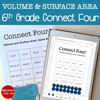 Connect Four: Volume and Surface Area