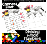 Connect Four Whole Number Division Game   Dividing Without
