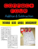 Connect Four- addition and subtraction