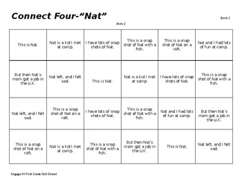 "Connect Four for 16 Stories in First Grade Engage NY Reader #1 ""Snap Shots"""