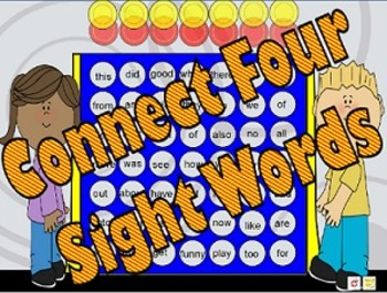 Connect Four w/Sight Words