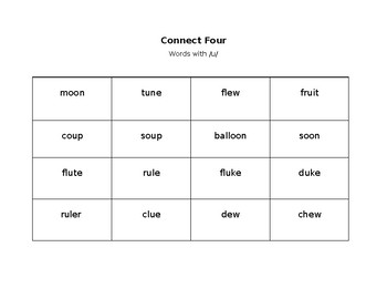 Connect Four with /u/ words