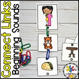 Connect Links Beginning Sounds Sort Task Cards