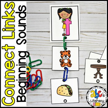 Connect Links Beginning Sounds Task Cards