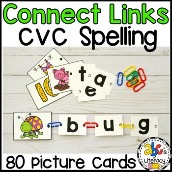 Connect Links CVC Words Spelling Activity