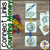 Connect Links Counting Money Task Cards
