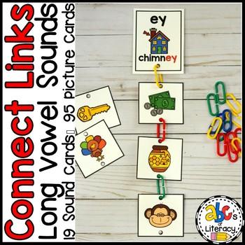 Connect Links Long Vowel Sounds Task Cards
