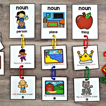 Connect Links Parts of Speech Sort Cards