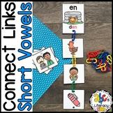 #tpttreats Connect Links Short Vowel Sounds Sort Cards