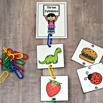 Connect Links Syllable Sort Task Cards