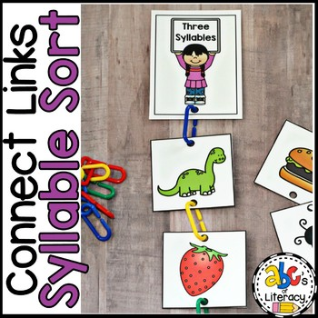 Connect Links Syllable Sort Cards