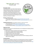 """Connect Reading to Writing: """"The Last Leaf"""""""