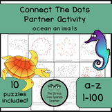 Connect The Dots Communicative Partner Activity, Alphabet / Numbers, Ocean Theme