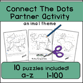 Connect The Dots, Communicative Partner Activity, Alphabet and Numbers