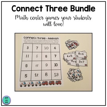 Connect Three Math Center Growing Bundle