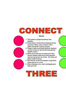 Connect Three Strategic Thinking Game