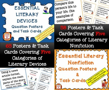 Bundle: Essential Reading-Writing Posters & Task Cards