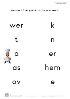 Connect Word Parts (1st Grade)