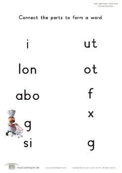 Connect Word Parts (3rd Grade)