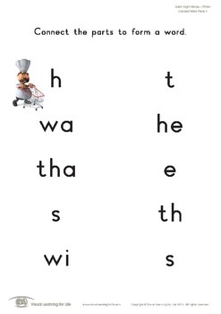 Connect Word Parts (Kindergarten)