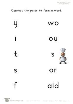 Connect Word Parts (Pre-K)