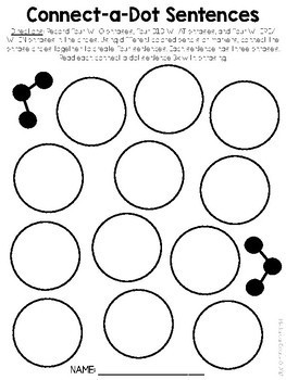 Connect-a-Dot Sentences -- Fluency Phrasing & Sentence Building Practice