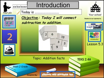 Connect addition to subtraction