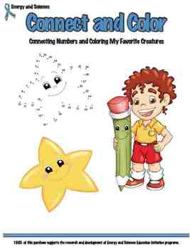 Connect and Color: Connecting Numbers and Coloring Creatures