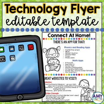 Connect at Home - an editable Technology Connection Flyer