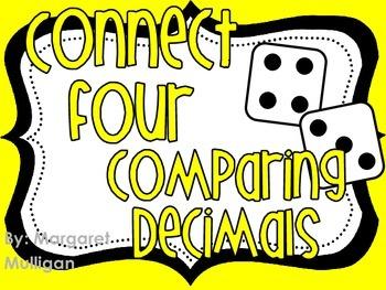Connect Four - Comparing Decimals