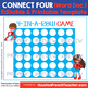 Connect four review game Template- editable (Four in a row French Spanish verbs)