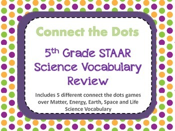 Connect the Dot Science Vocabulary Bundle