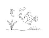 Connect the Dots 1 to 10 Fish Picture