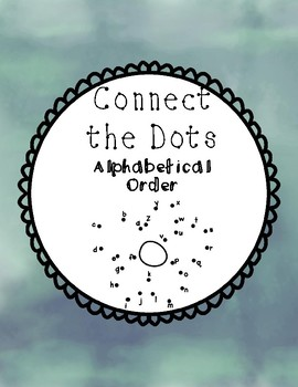 Connect the Dots: Alphabetical Order