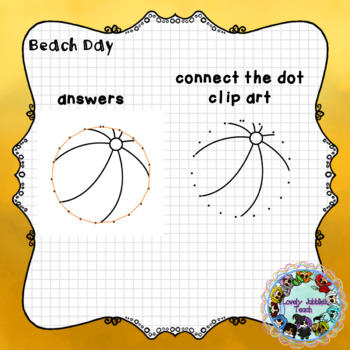 Connect the Dots Clip Art: Beach Day