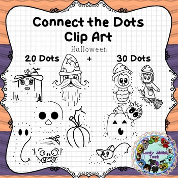 Connect the Dots Clip Art Halloween
