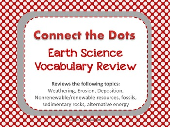 Connect the Dots Earth Science Vocabulary Review