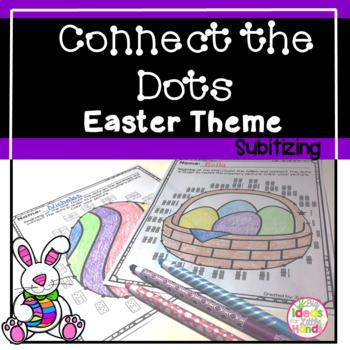 Connect the Dots Easter Activities Subitizing Worksheet
