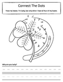Connect the Dots With Numbers and Letters - Four Leaf Clover Worksheet Set