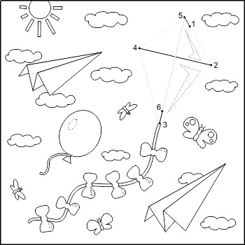 Kite Coloring Page Worksheets Teaching Resources