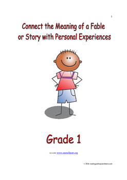 Connect the Meaning of a Fable or Story with Personal Experiences