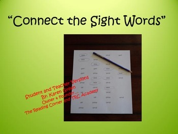 Connect the Sight Words