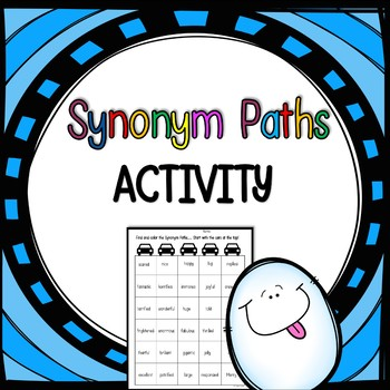 Free Connect the Synonyms Activity - Print and go!