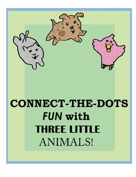 Connect the dot fun with three little animals