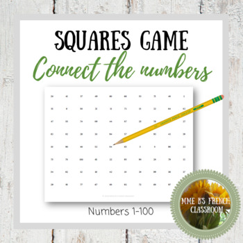 Squares game Connect the numbers: any language