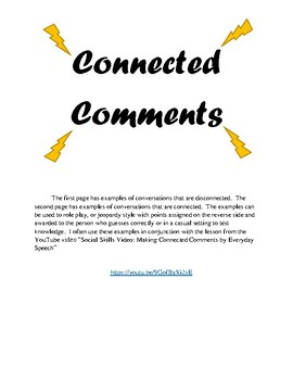 Connected Comment Examples