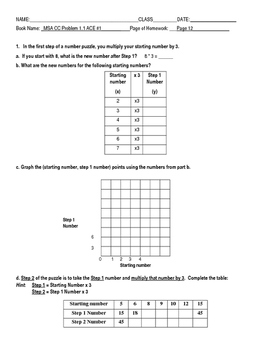 Connected Math: Moving Straight Ahead Common Core Adapted