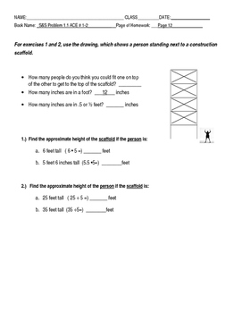Connected Mathematics Grade 7 Scaling and Shrinking Adapted Homework