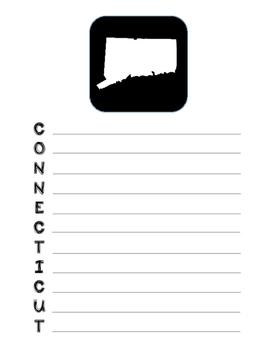 Connecticut State Acrostic Poem Template, Project, Activit